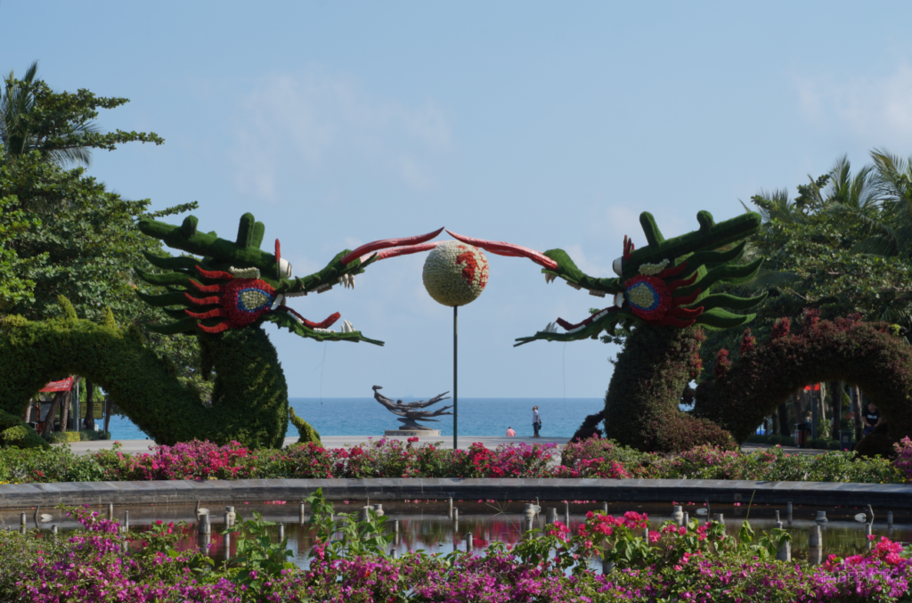 Dragon Figures in Da Dong Hai Park, Sanya, Hainan, China