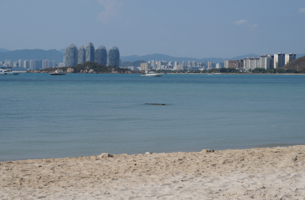 Beach view of Phoenix Island, Sanya, Hainan, China