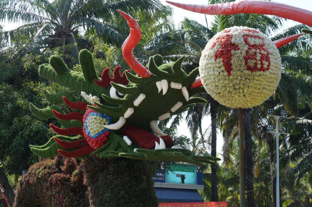 Dragon Figure in Da Dong Hai Park, Sanya, Hainan Island, China