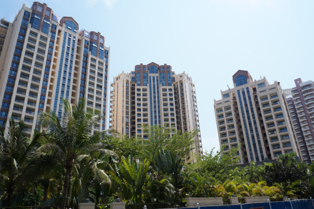 Apartment buildings, Sanya, Hainan Island, China